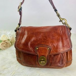 Coach Shoulder Bag Brown Leather purse 65th anniv